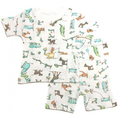 Boy's Rib Knit Print Short Pajama Set