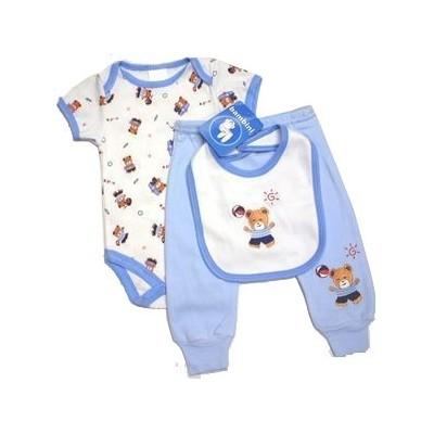 Boy's Print Interlock 3-Piece Infant Starter Set