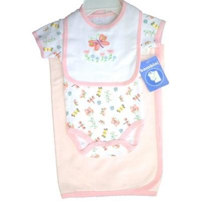 Girl's Print Interlock 3-Piece Infant Starter Set