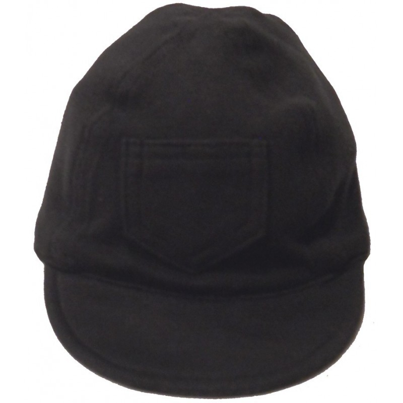 Interlock Solid Black Infant Baseball Cap