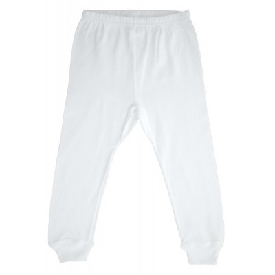 Rib Knit White Long Pants