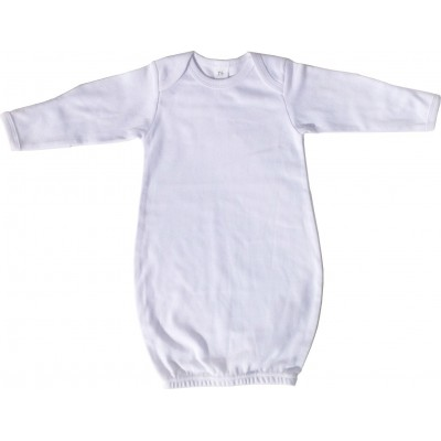 White Interlock Infant Gown - 913W