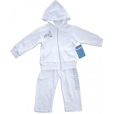 White Interlock Sweat Pants and Hoodie Set
