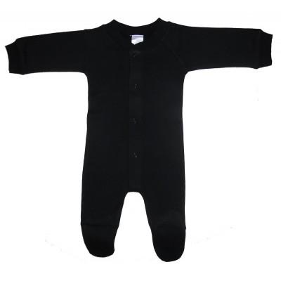 Interlock Black Closed-Toe Sleep & Play