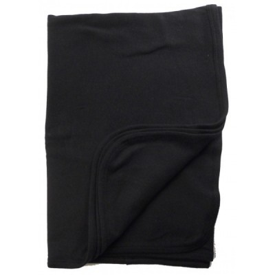 Black Interlock Receiving Blanket