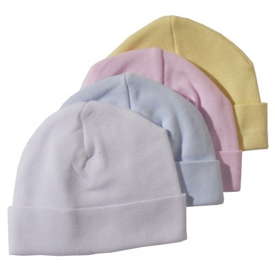 "Pastel Rib Knit Beanie ""Baby's First Cap"""