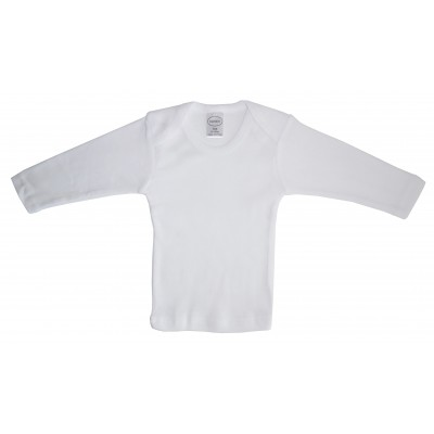 Rib Knit White Long Sleeve Lap T-Shirt 3-Pack