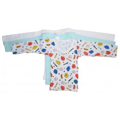 Boys Rib Knit Variety Long Sleeve T-Shirt 3-Pack