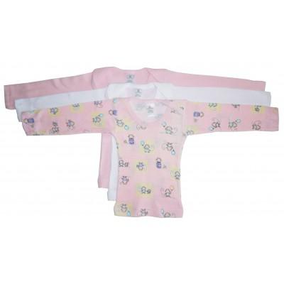 Girl's Rib Knit Long Sleeve T-Shirt Variety 3-Pack