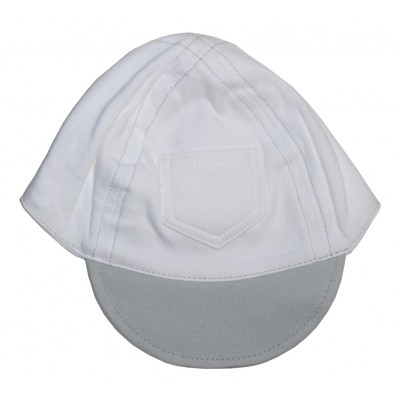 Interlock Baseball Cap White with Pastel Brim