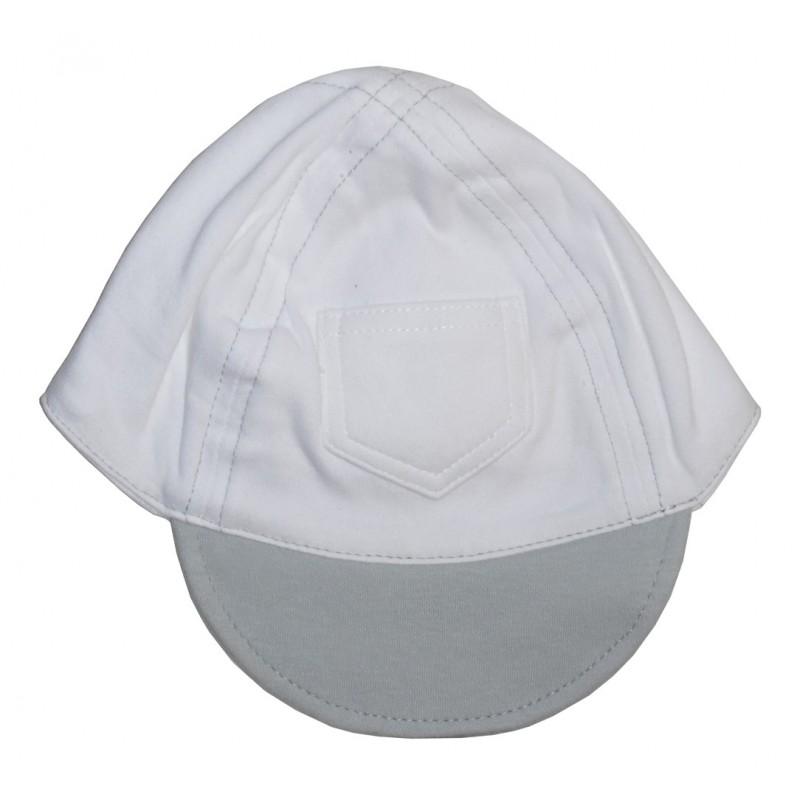 Interlock Baseball Cap White with Pastel Brim