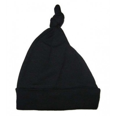 Black Interlock Knotted Baby Cap
