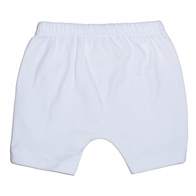 Interlock White Shorts