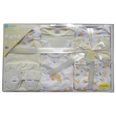Preemie 10-Piece Interlock Pastel Boxed Gift Set