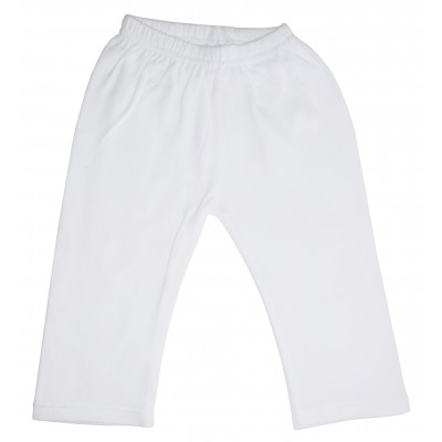 White Interlock Sweat Pants