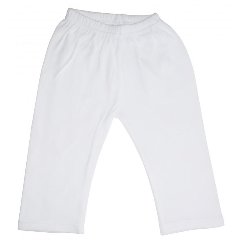 White Interlock Sweat Pants - 418