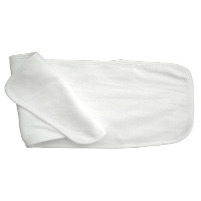 2- Ply Terry Burp Cloth White with White Trim
