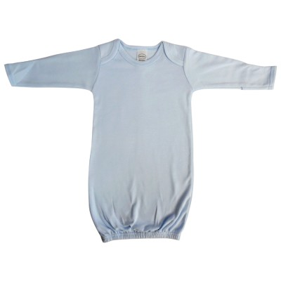 Blue Interlock Infant Gown - 913B