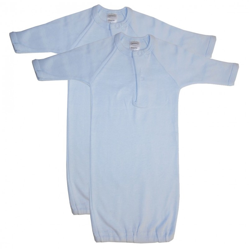 Preemie Blue Infant Gowns