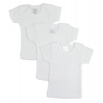 Rib Knit White Short Sleeve T-Shirt