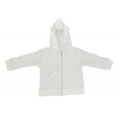 White Interlock Hooded Sweat Shirt