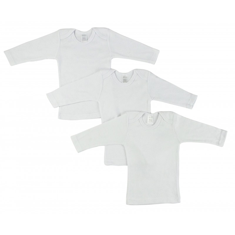 White Long Sleeve Lap Shirts