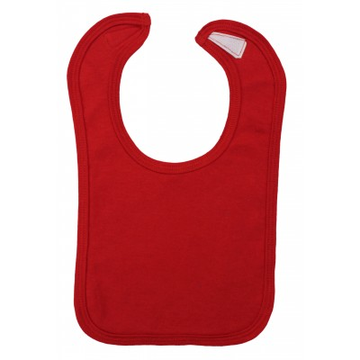 2-Ply Interlock Solid Red Infant Bib