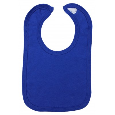 2-Ply Interlock Solid Blue Infant Bib