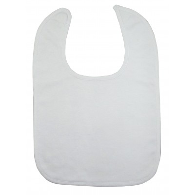 2-Ply Large Interlock White Bib