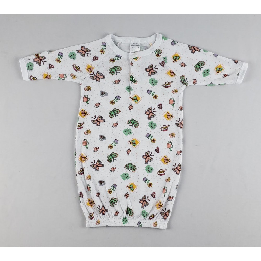 Infant Gowns Girls Butterfly Print