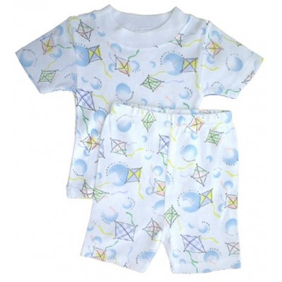 Girl's Rib Knit Print Short Pajama Set